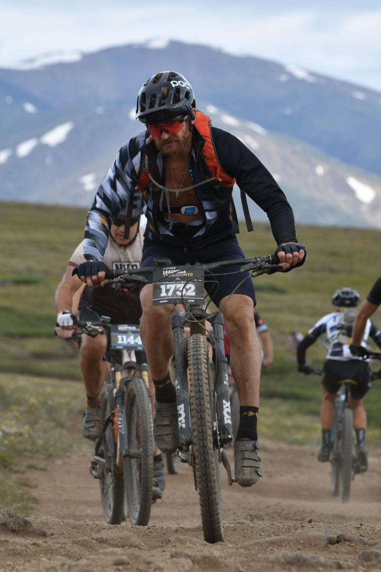 Eric Hinman blazing some trails at the Leadville 100