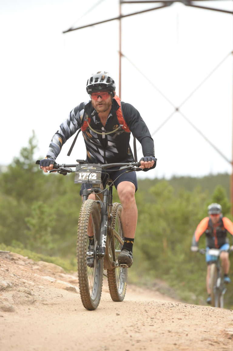 Eric Hinman Riding his bike in Leadville